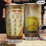 Personalized Softball Pitching Grips, Stainless Steel Tumbler, 20oz, Insulated Tumbler Cup, Tumbler Cups For Coffee/ Tea, Great Customized Gifts For Birthday Christmas