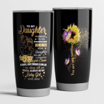 Personalized To My Daughter Tumbler You'll Always Be My Baby Girl Stainless Steel Vacuum Insulated Double Wall Travel Tumbler With Lid, Tumbler Cups For Coffee/Tea, Perfect Gifts For Birthday Thanksgiving
