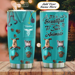 Personalized Animals Beautiful Day To Saves Animals Stainless Steel Tumbler, Tumbler Cups For Coffee/Tea, Great Customized Gifts For Birthday Christmas Thanksgiving