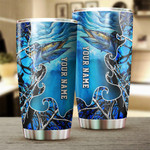 Personalized King Mackerel (Kingfish) Saltwater Fishing Custom Stainless Steel Beer, Coffee Tumbler Cups - Drinking Mug For Adult And Kids