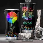 Lgbt Sunflower Personalized Tumbler Cup I'm Blunt Because God Rolled Me That Way Stainless Steel Insulated Tumbler 20 Oz Tumbler For Coffee/ Tea Great Birthday Gifts Christmas Gifts