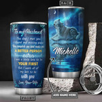 Personalized Wolf Couple Tumbler Cup To My Husband The Day I Met You Stainless Steel Vacuum Insulated Tumbler 20 Oz Great  Gifts For Birthday Valentine Anniversary Gifts From Wife With Love