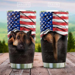 German Hiding Shepherd Tumbler Cup, Stainless Steel Vacuum Insulated, 20 Oz Tumbler Cups For Coffee/Tea, Great Customized Gifts For Birthday Christmas Thanksgiving