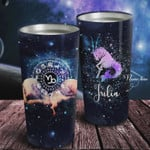 Personalized Zodiac Capricorn Galaxy Tumbler Stainless Steel Vacuum Insulated Double Wall Travel Tumbler With Lid, Tumbler Cups For Coffee/Tea, Perfect Gifts For Birthday Christmas Thanksgiving