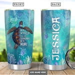Personalized Sea Turtle Coral Reef Tumbler Cup In A World Full Of Grandmas Be A Mimi Stainless Steel Insulated Tumbler 20 Oz Best Gifts For Birthday Christmas Thanksgiving Coffee/ Tea Tumbler