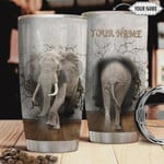 Personalized Elephant Tumbler Cup, Elephant Through The Wall, Stainless Steel Vacuum Insulated Tumbler 20 Oz, Best Gifts For Elephant Lovers,  Perfect Gifts For Birthday Christmas Thanksgiving
