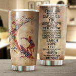 Surfing Tumbler Today Is A Good Day Stainless Steel Vacuum Insulated Double Wall Travel Tumbler With Lid, Tumbler Cups For Coffee/Tea, Perfect Gifts For Birthday Christmas Thanksgiving