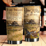 Personalized To My Husband When We Get To The End Best Gifts For Deer Husband From Wife Deer Hunters Father's Day 20 Oz Sport Bottle Stainless Steel Vacuum Insulated Tumbler