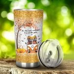 Dachshund Dog And Halloween Hippie It's The Most Wonderful Time Of The Year Stainless Steel Tumbler, Tumbler Cups For Coffee/Tea, Great Customized Gifts For Halloween Anniversary