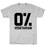 0% Vegetarian T-Shirt Essential T-Shirt Unisex T-Shirt For Men And Women On Birthday, Christmas, Anniversary