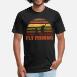 Fly Fishing Fish Jumping Funny Fishing Unisex T-Shirt For Men Women Great Customized Gifts For Birthday Christmas Thanksgiving Gift For Fishing Lovers