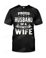 Proud Husband Of A Perfect Freakin' Wife Tshirt Man T Shirt Husband Wife Anniversary Shirt Birthday Christmas Tee Hubs Hub Wifey Wedding Shirts