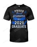 Proud Great Grandma of A Senior Graduate Class Of 2021 Grad Tshirt Grand Mom Grandma Graduation Tee Grandmother Son Daughter Shirt Blue