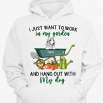 I Just Want To Work In My Garden And Hang Out With My Dogs Personalized T-Shirt, Hoodie For Gardener, Dog Lover