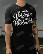 My favorite Veteran Is My Husband Short-Sleeves Tshirt, Pullover Hoodie, Great Gift T-shirt On Veteran Day