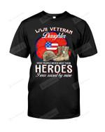 Mót People Never Met Their Heroes, I Was Raised By Mine Short-Sleeves Tshirt, Pullover Hoodie Great Gift For Veteran Daughter On Veteran's Day