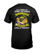 I Am A Grumpy Old Army Veteran Short-sleeves Tshirt, Pullover Hoodie, Great Gift T-shirt On Veteran Day
