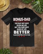 Bonus Dad Short-Sleeves Tshirt, Pullover Hoodie Great Gifts For Dad On Birthday Christmas Thanksgiving Wedding Anniversary