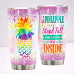 Pineapple Stand Tall Wear A Crown Stainless Steel Tumbler Perfect Gifts For Pineapple Lover Tumbler Cups For Coffee/Tea, Great Customized Gifts For Birthday Christmas Thanksgiving