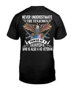 Power Of A Grandpa Who Is Also A Us Veteran Short-Sleeves Tshirt, Pullover Hoodie, Great Gift T-shirt On Veteran Day