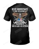 Power Of Grandpa Veteran Short-Sleeves Tshirt, Pullover Hoodie Great Gift For Grandpa On Veteran's Day