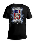We Stand For The Flag We Kneel For The Fallen Veteran Short-Sleeves Tshirt, Pullover Hoodie, Great Gift T-shirt On Veteran Day
