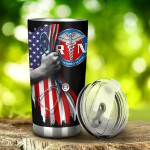 American Flag And Caduceus Symbol Tumbler Gifts For Nurses, Doctors On Independence Day 20 Oz Sports Bottle Stainless Steel Vacuum Insulated Tumbler