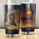 Bear And Campfire Tumbler I Hate People Tumbler Gifts For Bear Lovers, Camping Lovers 20 Oz Sports Bottle Stainless Steel Vacuum Insulated Tumbler