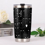 Black Cats Tumbler Best Gifts For Cat Lovers, Pet Lovers On Birthday Christmas Thanksgiving 20 Oz Sports Bottle Stainless Steel Vacuum Insulated Tumbler