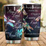 Always Loved Colorful Watercolor Dragonflies Tumbler A Visitor From Heaven's Near Tumbler Best Gifts For The Lost Ones In Heaven 20 Oz Sports Bottle Stainless Steel Vacuum Insulated Tumbler