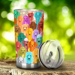 Multicolor Poodle Dogs Tumbler Stainless Steel Tumbler, Tumbler Cups For Coffee/Tea, Great Customized Gifts For Birthday Christmas Thanksgiving, Anniversary