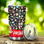 Pharmacist Proud Pharmacist Stainless Steel Tumbler, Tumbler Cups For Coffee/Tea, Great Customized Gifts For Birthday Christmas Thanksgiving, Anniversary