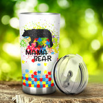 Autism Mama Bear Tumbler Stainless Steel Tumbler, Tumbler Cups For Coffee/Tea, Great Customized Gifts For Birthday Christmas Thanksgiving, Anniversary