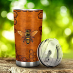 Bee Tumbler Stainless Steel Tumbler, Tumbler Cups For Coffee/Tea, Great Customized Gifts For Birthday Christmas Thanksgiving, Anniversary
