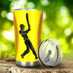 Softball He Pitches Tumbler Stainless Steel Tumbler, Tumbler Cups For Coffee/Tea, Great Customized Gifts For Birthday Christmas Thanksgiving, Anniversary