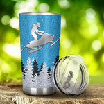 Snowmobile I'M Just A Girl Who Love Snowmobile Tumbler Stainless Steel Tumbler, Tumbler Cups For Coffee/Tea, Great Customized Gifts For Birthday Christmas Thanksgiving, Anniversary