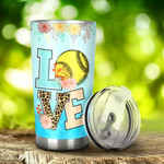 Softball Love Tumbler Stainless Steel Tumbler, Tumbler Cups For Coffee/Tea, Great Customized Gifts For Birthday Christmas Thanksgiving, Anniversary