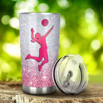 Volleyball I'M Just A Girl Who Loves Volleyball Tumbler Stainless Steel Tumbler, Tumbler Cups For Coffee/Tea, Great Customized Gifts For Birthday Christmas Thanksgiving, Anniversary