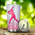 Softball I'M Just A Girl Who Loves Softball Tumbler Stainless Steel Tumbler, Tumbler Cups For Coffee/Tea, Great Customized Gifts For Birthday Christmas Thanksgiving, Anniversary