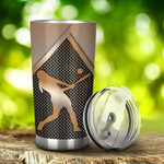 Softball Silver Metal  Tumbler Stainless Steel Tumbler, Tumbler Cups For Coffee/Tea, Great Customized Gifts For Birthday Christmas Thanksgiving, Anniversary
