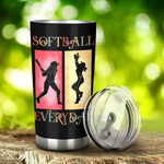 Softball Everyday Tumbler Stainless Steel Tumbler, Tumbler Cups For Coffee/Tea, Great Customized Gifts For Birthday Christmas Thanksgiving, Anniversary