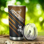 Motocross Shinning Tumbler Stainless Steel Tumbler, Tumbler Cups For Coffee/Tea, Great Customized Gifts For Birthday Christmas Thanksgiving, Anniversary