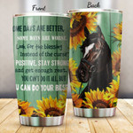 Vintage Horse And Sunflowers Tumbler Some Days Are Better Tumbler Gifts For Best Gifts For Horse Lovers, Sunflower Lovers 20 Oz Sports Bottle Stainless Steel Vacuum Insulated Tumbler