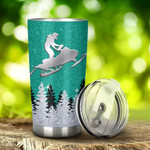 Snowmobile I'M Just A Girl Who Loves Snowmobiling Tumbler Stainless Steel Tumbler, Tumbler Cups For Coffee/Tea, Great Customized Gifts For Birthday Christmas Anniversary
