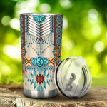 Native American Pattern Tumbler Gifts For Birthday Christmas Thanksgiving 20 Oz Sports Bottle Stainless Steel Vacuum Insulated Tumbler