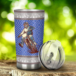 Motocross Maze Pattern Tumbler Stainless Steel Tumbler, Tumbler Cups For Coffee/Tea, Great Customized Gifts For Birthday Christmas Anniversary