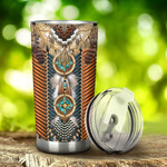 Native American Pattern Tumbler Stainless Steel Tumbler, Tumbler Cups For Coffee/Tea, Great Customized Gifts For Birthday Christmas Anniversary