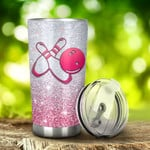 Bowling I'M Just A Girl Who Loves Bowling Tumbler Stainless Steel Tumbler, Tumbler Cups For Coffee/Tea, Great Customized Gifts For Birthday Christmas Anniversary