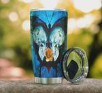 3D Gothic Skull Butterfly Stainless Steel Vacuum Insulated Tumbler 20 Oz, Great Customized Gifts For Birthday Christmas Thanksgiving, Coffee/ Tea Tumbler, Blue Tumbler