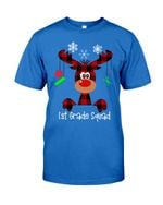 1st Grade Squad Reindeer Short-Sleeves Tshirt, Pullover Hoodie, Great Gift T-shirt For Thanksgiving Birthday Christmas
